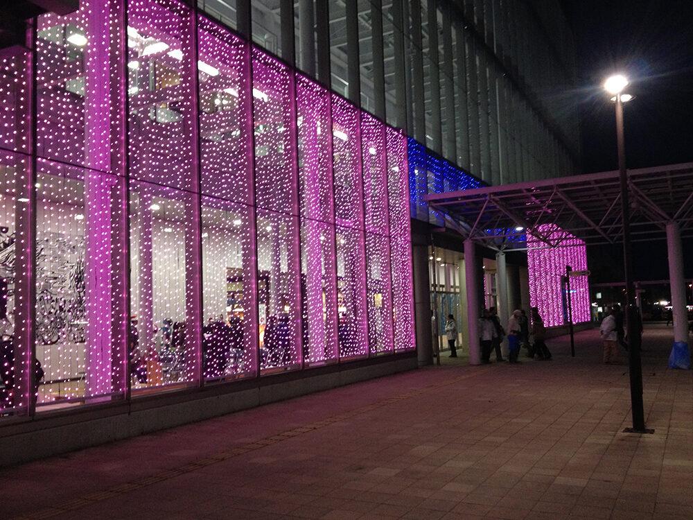 新青森駅イルミネーション 装飾