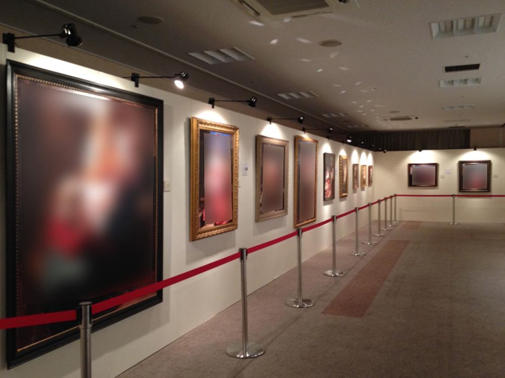 絵画展示会 設営